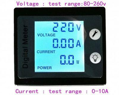 Ac 10a Digital Led Electricity Meter Power Voltmeter Amperemet