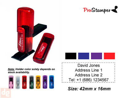 Pocket Size Personalized Name - Address Pre Inking Rubber Stamp