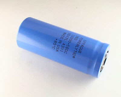 Lot Of 2 Sprague 12000uf 50v Large Can Electrolytic Capacitor 36d123g050be2a