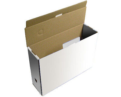 15 A4 Foolscap File Archive Cardboard Boxes 13.5x4x10