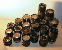 FD Mount lenses for Canon SLR 35mm FILM cameras + accessories
