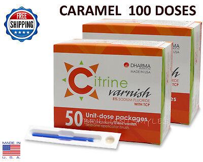 Citrine 5 Sodium Fluoride Varnish Caramel 0.4ml 100 Unit-dose Packs Dental