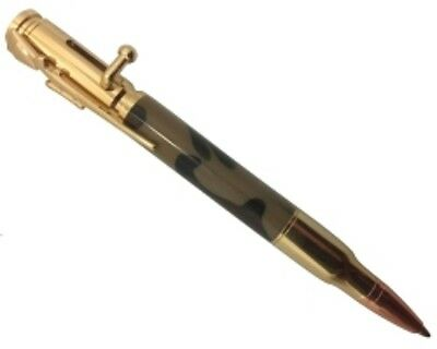 24K Gold, 30 Caliber Bolt Action Bullet Pen Kit