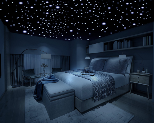 Home Decoration - 400pcs Kids Ceiling Wall Stickers Bedroom Glow in the Dark like Stars Decoration