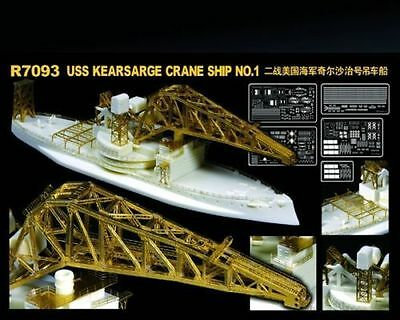 FreeShipping LionRoar 1/700 R7093  USS No.1 Crane Ship AB-1 MODEL KIT NEW