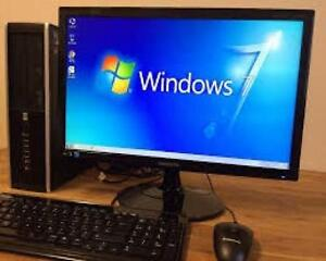 "Quad Core H 250gb Hard 4gig Ram Windows 10 WiFi Computer with free 19"" monitor Keyboard Mouse $150 Only"