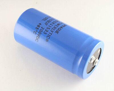 1x 3300uf 200v Large Can Electrolytic Aluminum Capacitor 3300uf 250vdc 3300mfd