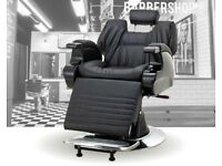 Vintage Traditional Boxed Sheraton Barber Chairs with Built in Flat Head Rest