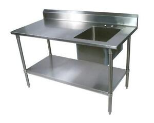 stainless steel table with sinks. beautiful ideas. Home Design Ideas