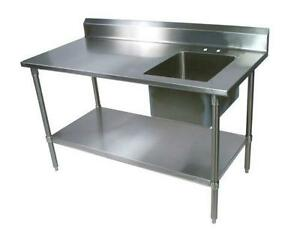 Stainless Steel Table EBay - Stainless steel work table with wheels