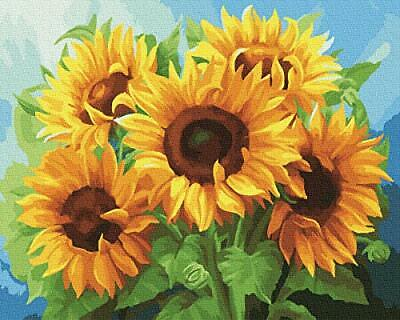 """Paint by Number for Adult & Kid, Art Craft for Home Wall Decor-Sunflower 16""""X20"""""""