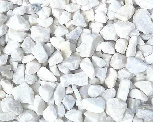 20 mm white Spanish marble garden and driveway chips/stones