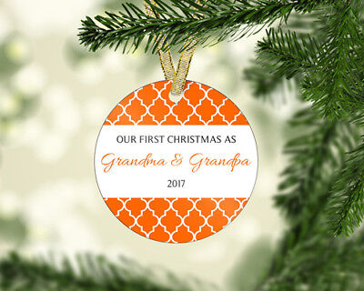 Personalized New Grandparents First 1st Christmas Ornament! - 4 (Personalized Grandparents Ornaments)