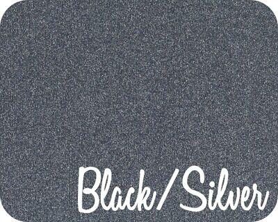 20 X 5 Yards 15 Feet Stahls Glitter Flake Htv - Black Silver