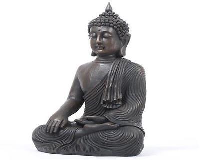 XXL 43 cm Riesige Deko Asien Garten BUDDHA Figur Statue Skulptur FENG SHUI  NEU