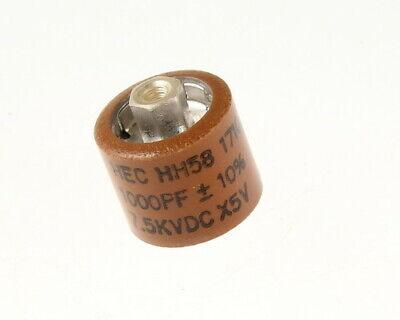 1000pf 7500v Ceramic Transmitting Doorknob Capacitor 7.5kv Dc 7500 Volts .001uf