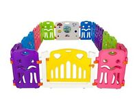 Cannons Plastic Baby Den Playpen with Games Station (240 x 160 cm)