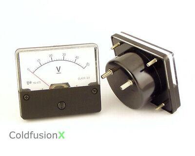 New Dc 50v Analog V Volt Voltage Panel Meter