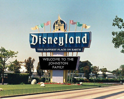 Personalized Disneyland Marquee Photo 8x10 Mickey