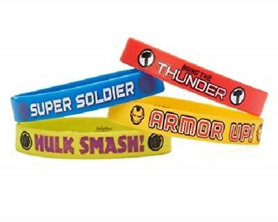 Avengers Rubber Bracelets, 4 Count, Party Supplies Novelty, Multicolored  - Avenger Party