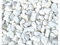 20 mm white Spanish marble garden and driveway chips/gravel