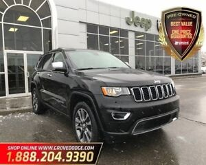 2018 Jeep Grand Cherokee Limited| 4X4| Low KM| Sunroof| Remote S