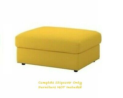 VIMLE Cover for Footstool w/ storage ~ Grasbo Golden Yellow: 903.511.16 |...