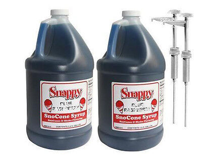 Snow Cone Syrup 2-one Gallon Jugs With Pumps