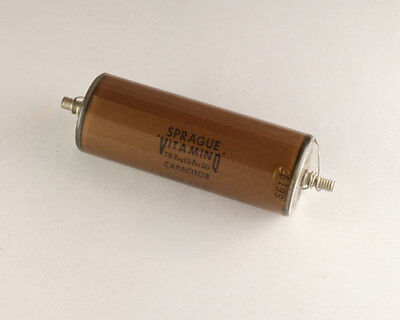 New Sprague 0.1uf 5000v Vitamin Q High Voltage Oil Capacitor American Made