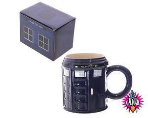 TARDIS POLICE BOX ROUND COFFEE MUG CUP RETRO NEW IN GIFT BOX