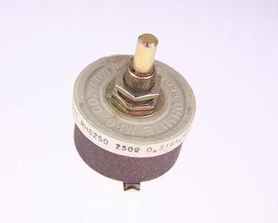 1x 250 Ohm 25w Rheostat Wirewound Resistor Potentiometer 25 Watt 250ohm Ohms