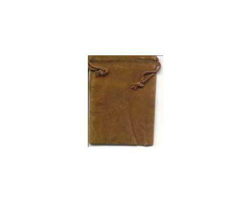 """Set of 12 Small Tiny 2.5"""" x 2"""" Brown Velveteen Drawstring Bags Pouches"""