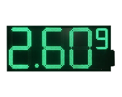 Led Gas Price Signs One Side Green 12 X 31 Remote Control Full Package