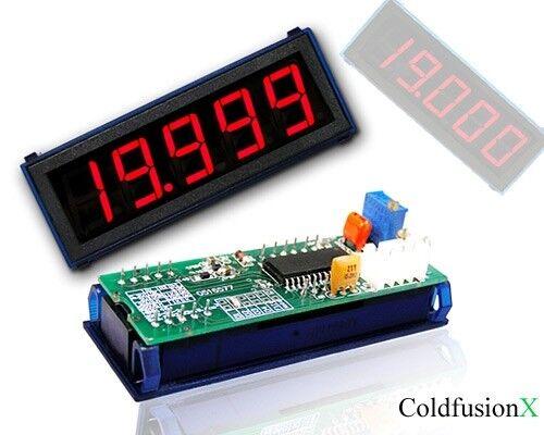 4-1/2  Red LED DC 20A Digital Amp Current Panel Meter