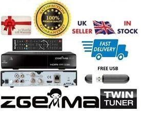 ZGEMMA H.2S TWIN TUNER With 12 MONTH WARRANTY + IPTV (PLUG&PLAY)