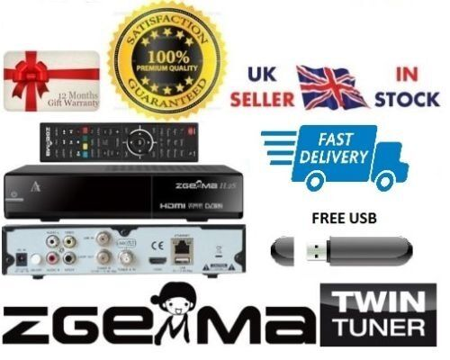 ZGEMMA H.2S TWIN TUNER With 12 MONTH WARRANTY + IPTV (PLUG&PLAY)
