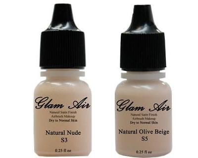 Airbrush Makeup Foundation Satin S3 Natural Nude and S5 Natural Olive Beige Wate Face