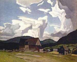 """A.J. Casson """"Northern Farm"""" Lithograph - Appraised at $700"""