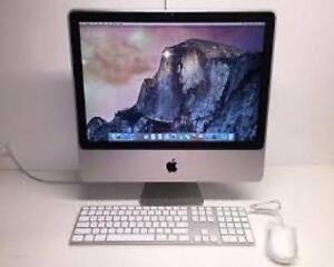 "Apple 20"" iMAC Intel Core 2 Dou 160gb HDD 8gb Ram Camera & WiFi"