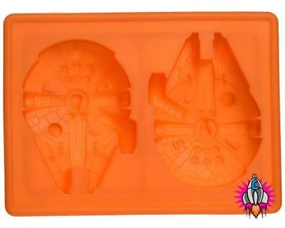 OFFICIAL STAR WARS MILLENNIUN FALCON SILICON ICE CUBE TRAY & MOULD NEW & SEALED