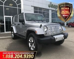 2014 Jeep WRANGLER UNLIMITED Sahara| Leather| 4X4| CD Player| Re