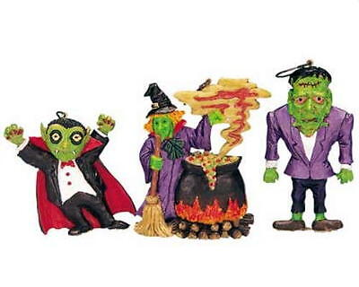 Lemax Spooky Town Halloween Dracula Frankenstein Witch Tree Decorations - Spooky Town Halloween Decorations