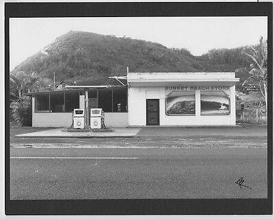 "EHUKAI BEACH OAHU B/&W ORIGINAL BY PHOTOGRAPHER ON 8x10/"" MATT BANZAI PIPELINE"