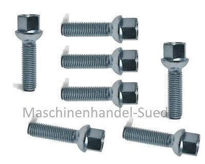 16 SCHWARZ Radschrauben Radbolzen Schrauben M12x1.5x40 Kugel Kugelbund R12 SW17