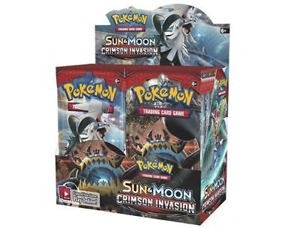 Pokemon Sun And Moon Booster Crimson Invasion   1X Booster Pack   In Stock Now