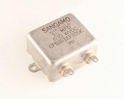 New Sangamo 1uf 600v Dc Cp53 Oil-paper Bathtub Style Capacitor Mil Grade