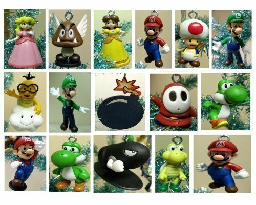 Mario Brothers 19 Piece Christmas Tree Ornaments Set  ***BRAND NEW***