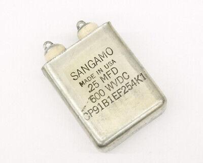 Cp91b1ef254k1 Sangamo Capacitor 0.25uf 600v Oil Hermetically Sealed Radial