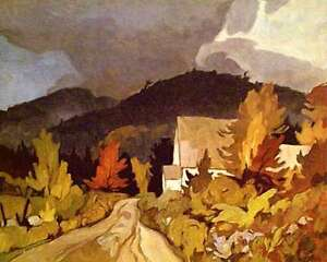 """A.J. Casson """"Country Church"""" Lithograph - Appraised at $600"""