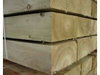 Brand New Landscape Sleepers 100mm x 200mm x ????? From £7.14